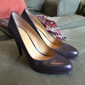 """Brown Leather 4"""" Heels"""